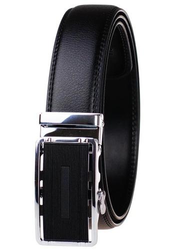 FANYU silver Leather Dress Belt With Automatic Buckle belt 016ADAC3B1CA42GS_1
