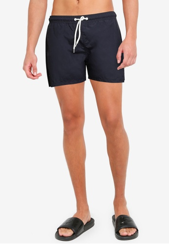 !Solid blue Basic Swim Shorts 2469AUS1392335GS_1