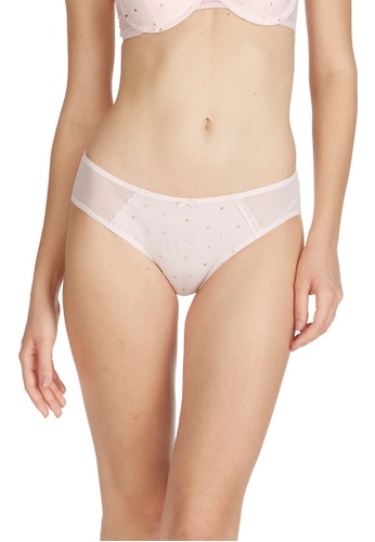 6IXTY8IGHT pink KRISTAL SOLID, All-Over Heart Hipster Panty PT09929 62D18USDECC5B9GS_1