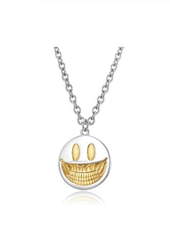 HAPPY FRIDAYS Pop Art Devil Smile Face Pendant Necklace JW QF-DZ295 8ED7BACF012746GS_1