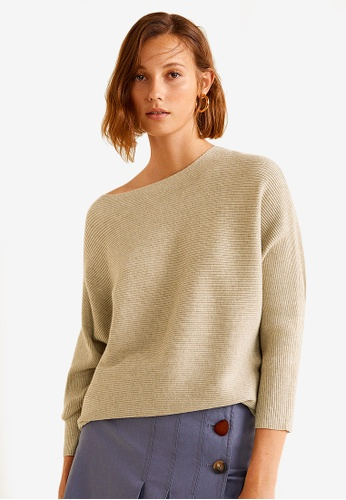 Mango brown Ribbed Knit Sweater 9A391AA64577C7GS_1