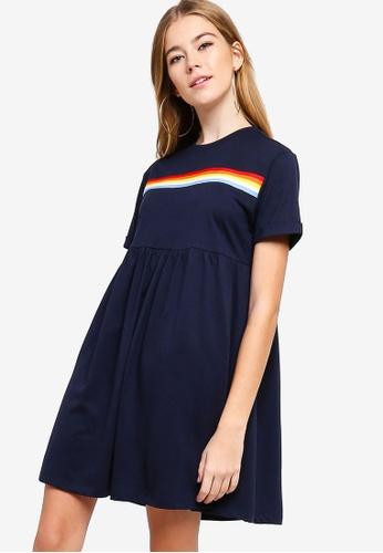 Something Borrowed navy Rainbow Jersey Dress A5319AA3379B25GS_1
