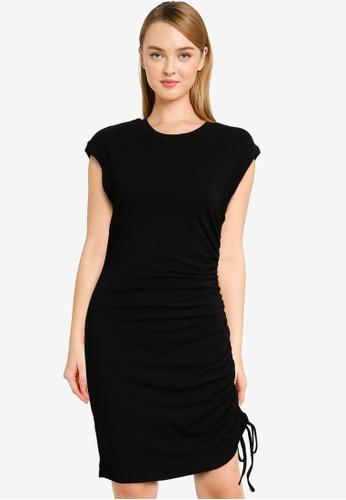 Forever New black Roxi Extended Sleeve Mini Dress FF0B3AA0FB1D6AGS_1