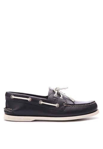 Sperry navy A/O 2-Eye Boat Shoes SP132SH31OIAPH_1