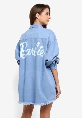 MISSGUIDED blue Barbie Long Sleeve Shacket DF3DBAA2C5D66BGS_1