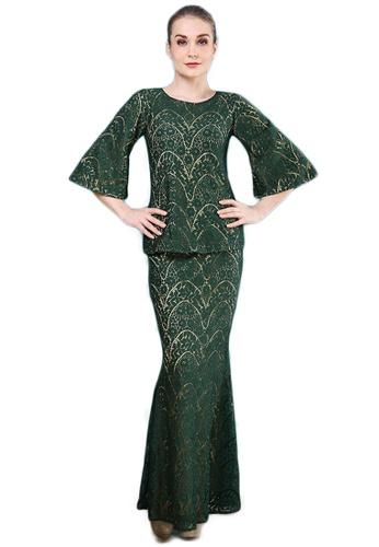 Maribeli Butik Vanessa Lace Saloma - Emerald Green from Maribeli Butik in Green