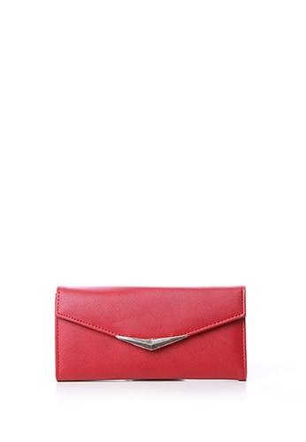 Dazz red Metal Gold Tip Wallet - Red DA408AC44TFRMY_1