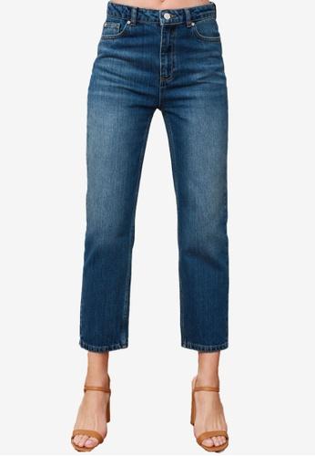 Trendyol blue High Waist Slim Fit Jeans D6958AA94F1E14GS_1