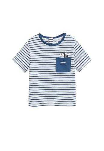MANGO BABY white Striped Print T-Shirt 66878KAA026862GS_1