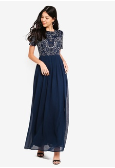 30% OFF Angeleye Laura Navy Embellished Dress RM 646.00 NOW RM 451.90 Sizes  M aedd9a33d