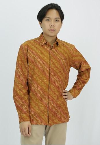 House of Kain yellow Kemeja Batik Dobby Parang 994FEAA9AD52B7GS_1