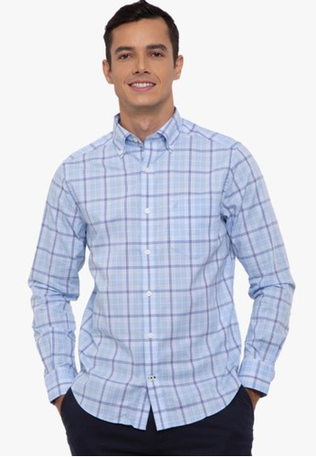 Nautica blue L/S Wtw Plaid Shirt 1AD66AA1F0A686GS_1