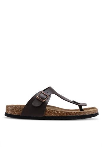 Carlton London 褐色 懶人涼鞋 6F39FSHD511B74GS_1