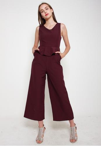 Leline Style red Avalyn Ruffles Romper 5CC52AAD4A0B3BGS_1
