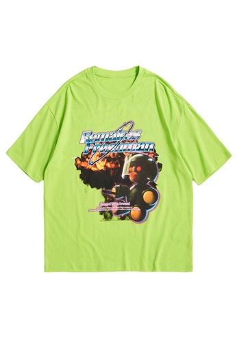 Twenty Eight Shoes Cartoon Printed Short T-shirt 1526S21 67069AAFEC3895GS_1