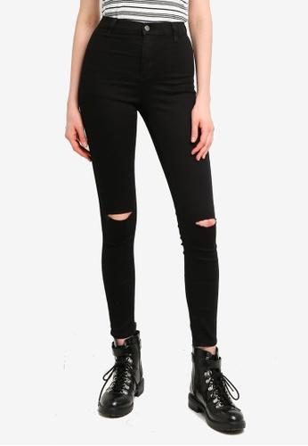 TOPSHOP black Black Rip Belt Loop Joni Skinny Jeans 3EF63AAA3B6333GS_1