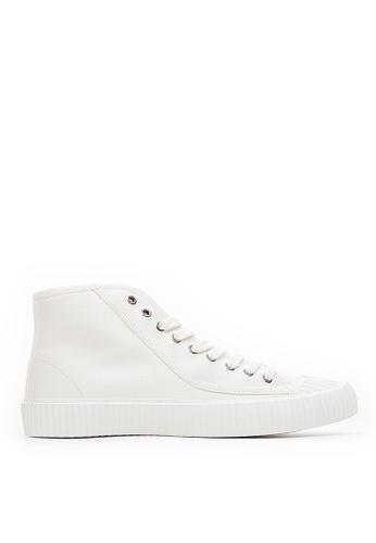 Life8 white Men&Women Casual American Canvas High-Top Shoes-09848-White 15C44SHA1FABFFGS_1