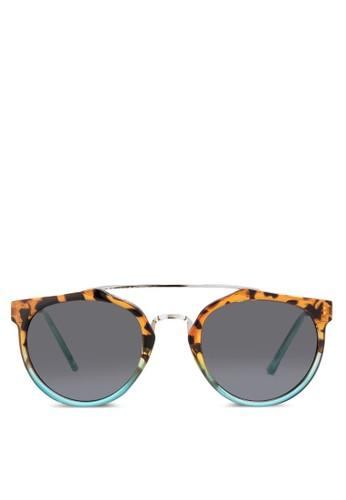 JP0037 金屬條鏡橋印花太陽眼鏡,esprit地址 飾品配件, 飾品配件