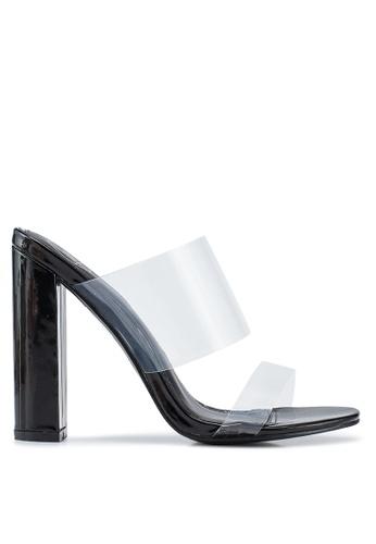 ce4d9cf1c MISSGUIDED black Perspex Block Heels 22FFBSH91E5C54GS 1