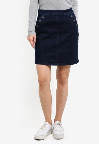 ESPRIT blue Denim Mini Skirt ES374AA0S2QJMY_1