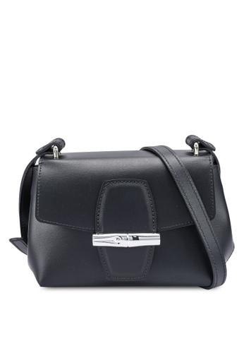 Longchamp black Roseau Box Crossbody Bag (zt) B01BFAC4296017GS_1
