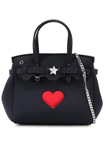 La Fille Des Fleurs black and red Petit Jackie Love Tote Bag 96713AC85D638EGS_1