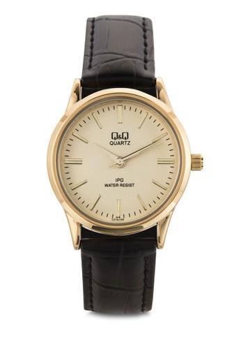 C215Jesprit旗艦店100Y 仿皮圓框手錶, 錶類, 飾品配件