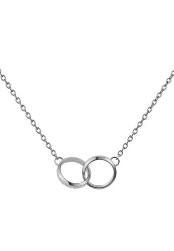 Daniel Wellington silver Elan Unity Necklace Silver F3306AC2D77E4EGS_1