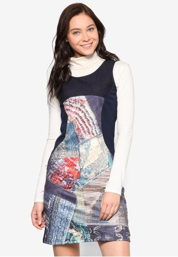 Joesprit sgrba 印花無袖連身裙, 服飾, 洋裝