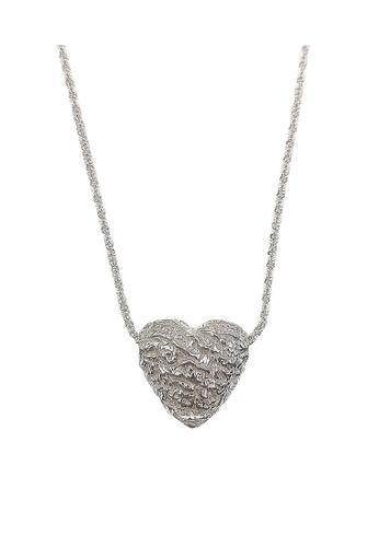 LYCKA silver LPP9022 Classic 3D-Heart Necklace 481F1AC8A2F403GS_1