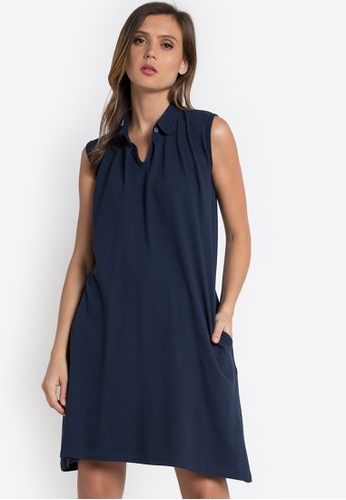 Verve Street navy Layla Dress VE915AA0K9J4PH_1