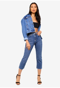 3d081b094cd TOPSHOP Petite Mid Stone Straight Jeans S$ 89.90. Sizes 25 28 30 32
