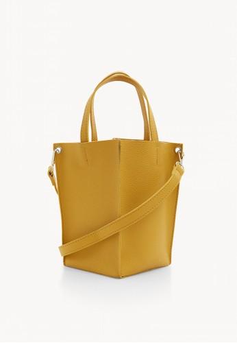 Pomelo yellow Mini Open Tote Bag - Yellow 45728AC76BE2D7GS_1