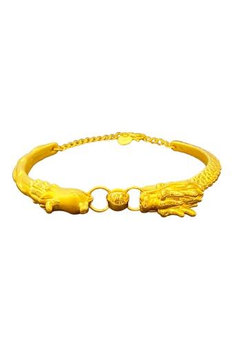 LITZ gold LITZ JINXI 999 (24K) Gold Dragon Phoenix Bangle 5CFF7ACBDCC008GS_1