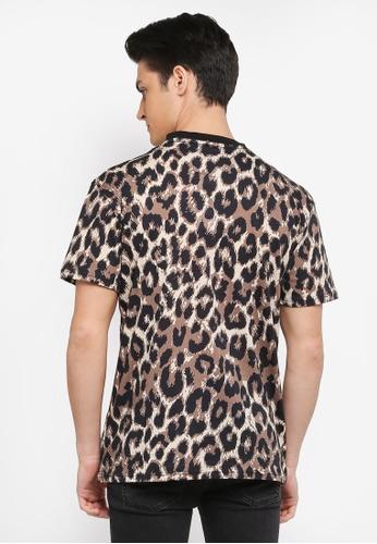 6eff4a5f087e Buy Topman Leopard Print T-Shirt Online | ZALORA Malaysia