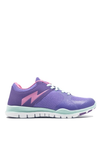 ACCEL pink and green and purple Q+ Dyna Running Shoes   AC958SH09HZQPH_1