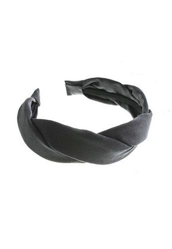 Kings Collection grey Korean Solid Color Wavy Cross Headband (HA20221) 81B91AC0722A2EGS_1