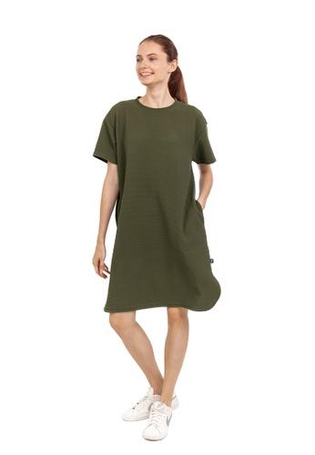 Huitieme green HUITIÈME JACQUARD SHIRT OLIVE DRESS. A58DFAA7285CBFGS_1