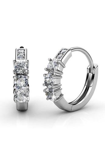 Her Jewellery silver Swarovski® Zirconia -Journey Ring Earrings (18K White Gold Plated) Her Jewellery HE581AC0RDGTMY_1