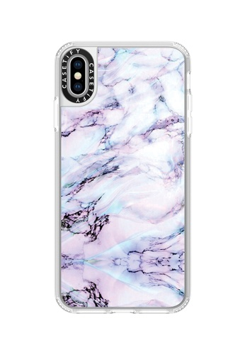 Casetify white and multi Marble Swirl Classic Grip Case for iPhone XS Max - Frost 63C7EACDAD8B6AGS_1