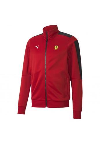 puma red Scuderia Ferrari Race T7 Men's Track Jacket CDCF1AA9501909GS_1
