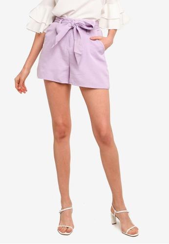 REUX purple Ryan Tie Shorts 6D386AA7D27DE3GS_1