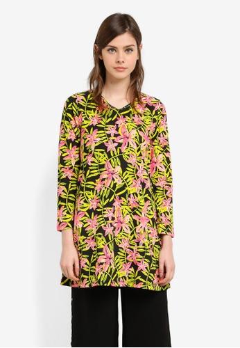 Wafiyya by Dollscarf pink and green Tulip Blouse WA375AA0S75WMY_1