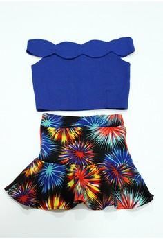 Angel Off-shoulder and Skirt Set