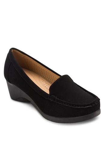 沖孔高跟莫卡辛esprit 澳門鞋, 女鞋, 厚底高跟鞋