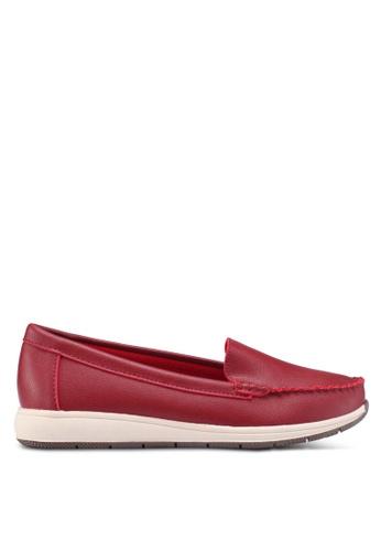 Noveni 紅色 懶人樂福鞋 A649ESHE66F3EAGS_1