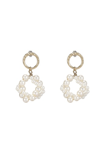 niko and ... white Statement Drop Earrings 05346ACF51ED93GS_1
