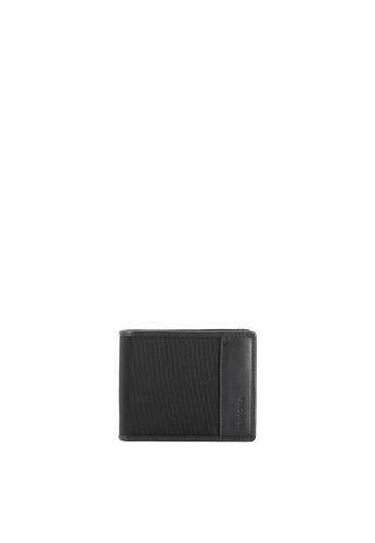 6ef1a077ed66 SEMBONIA black Men Nylon Trimmed Leather Tri-Fold Wallet (Black)  625C7ACB6C0CFFGS 1