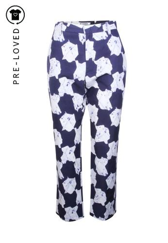Jil Sander blue Pre-Loved jil sander Printed Blue And White Pattern Pants C4FA8AA07C6CBDGS_1