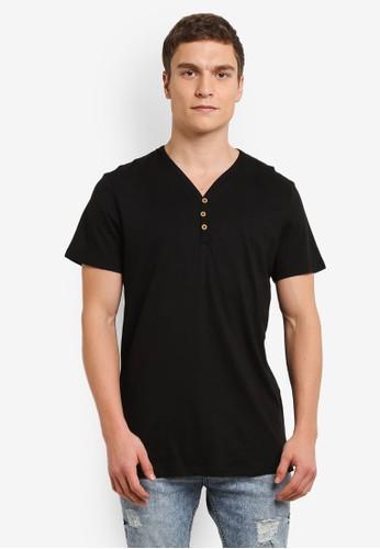 Cotton On black Essential Henley Shirt CO372AA0SBRIMY_1